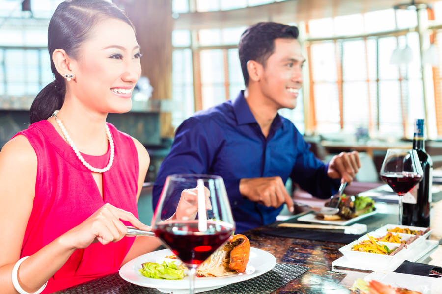 4 restauranter i Asia med en blanding av smaker