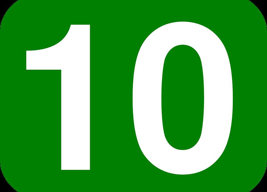De 10 beste